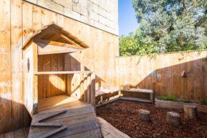 Le jardin de la micro-crèche Little Ornano